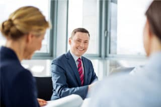 Businesspeople meeting in the conference room