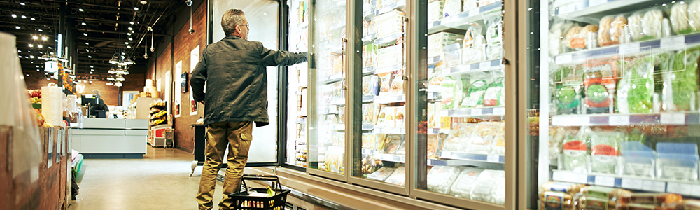 You open the refrigerated shelves in the supermarket and should represent the process of e-invoicing for Fevita in Hungary.