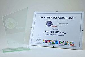 Award: EDITEL SK become a certified partner of GS1 Slovakia